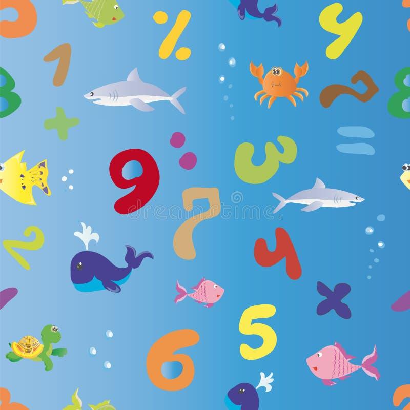 Морская математика бесплатная иллюстрация