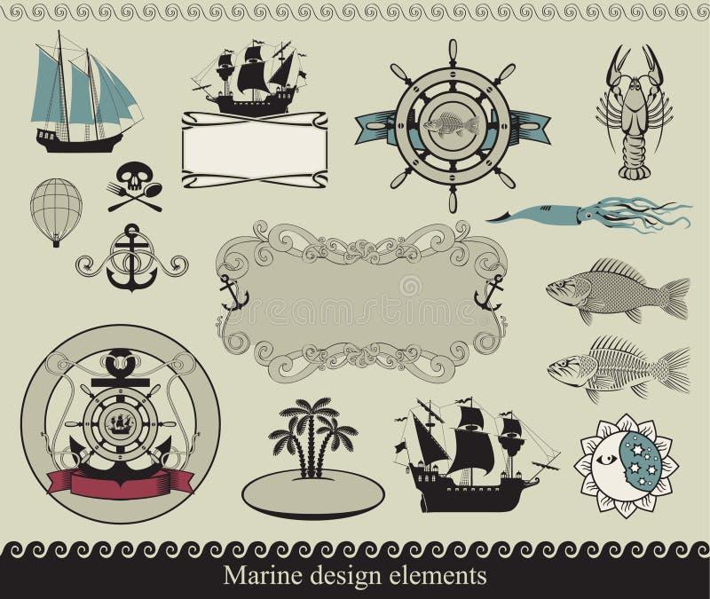 морская тема иллюстрация штока
