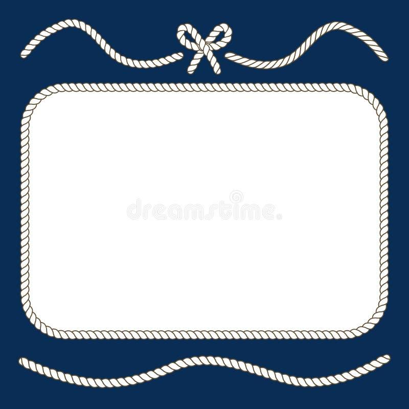 Морские веревочки и рамка смычка бесплатная иллюстрация