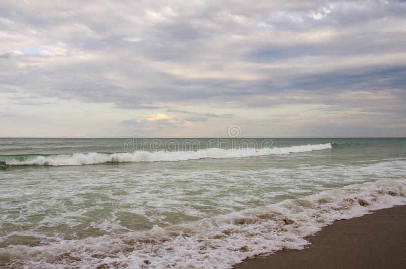 Морские волны на Черном море стоковое фото