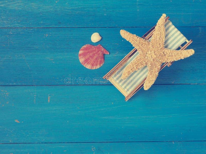 Морские звёзды в deckchair стоковые фотографии rf
