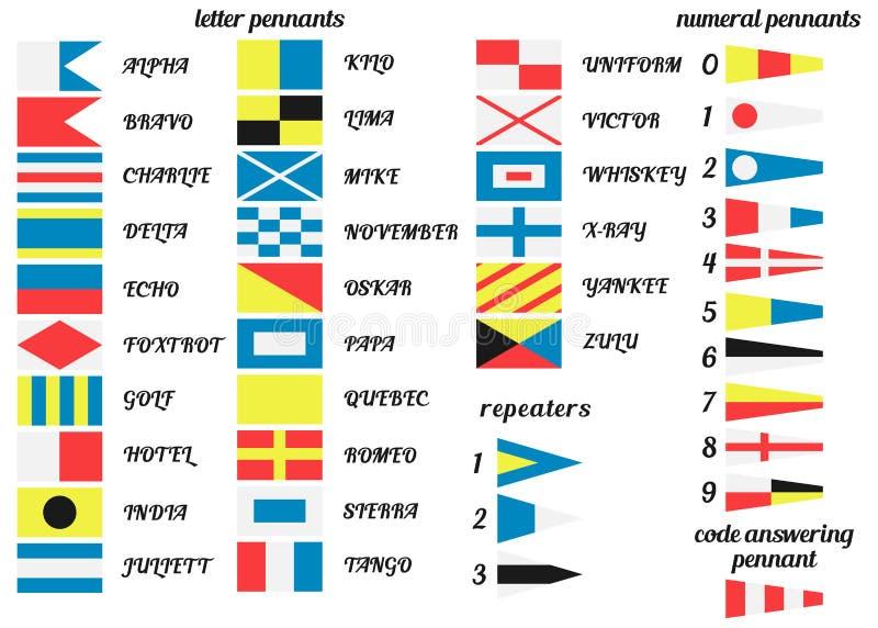 Морские флаги иллюстрация вектора