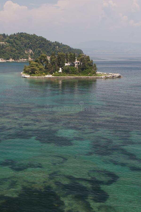 морское дно pontikonisi стоковая фотография rf
