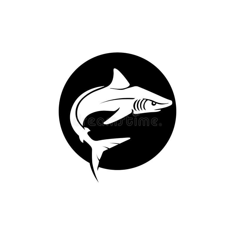 Морское животное рыб вектора шаблона и дизайна логотипа акулы дикое иллюстрация штока