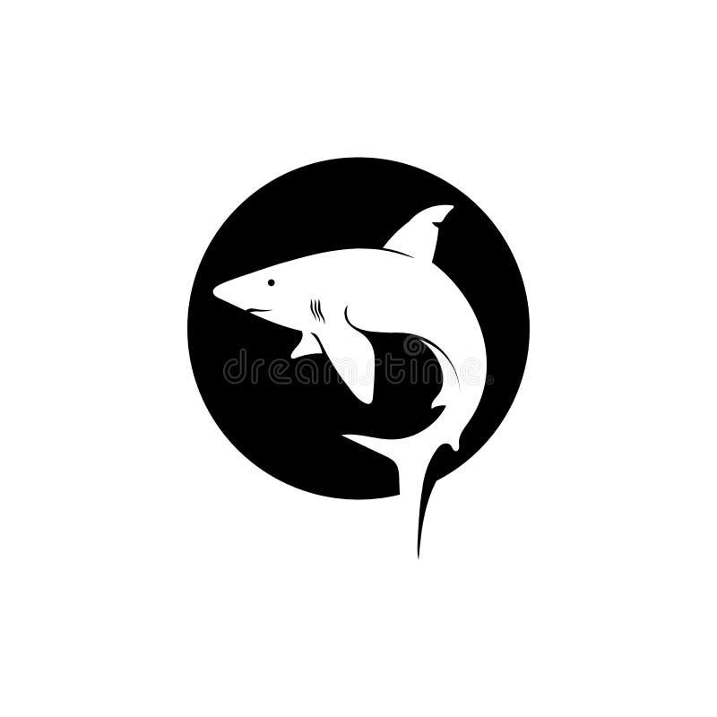 Морское животное рыб вектора шаблона и дизайна логотипа акулы дикое бесплатная иллюстрация