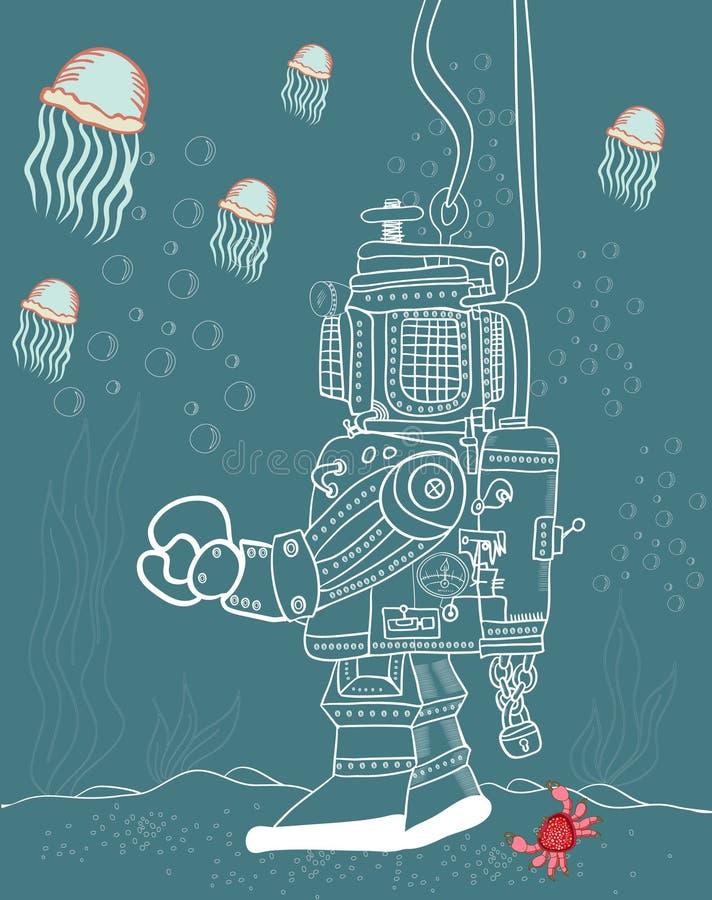 Морское дно иллюстрация штока