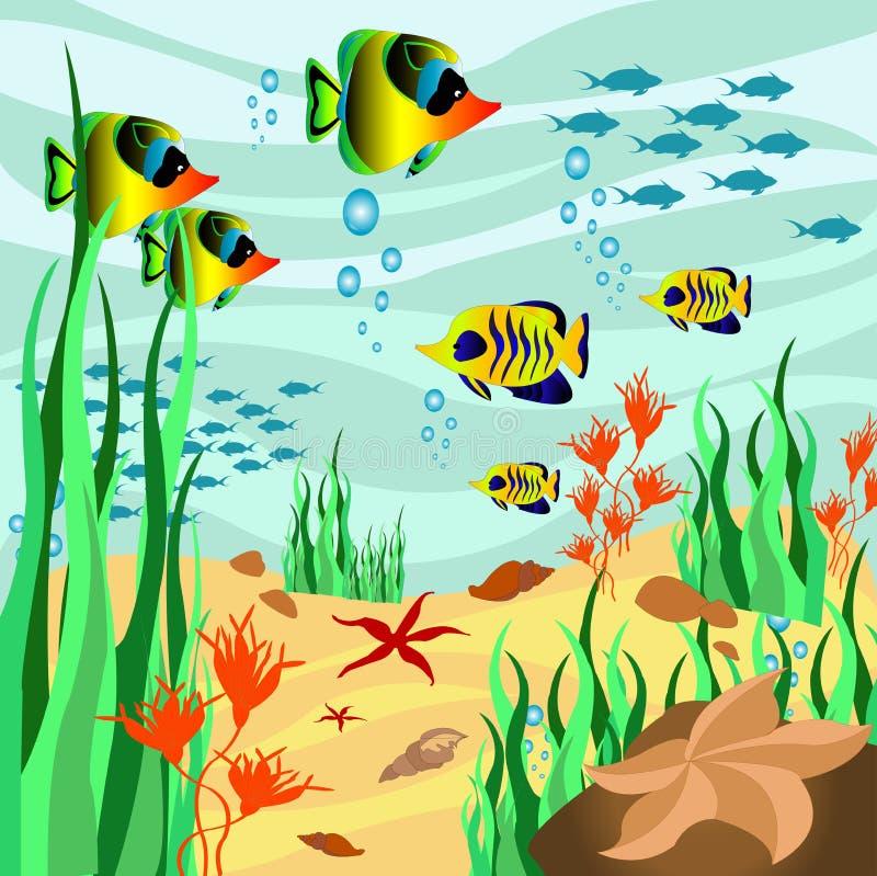 Морское дн дно иллюстрация штока