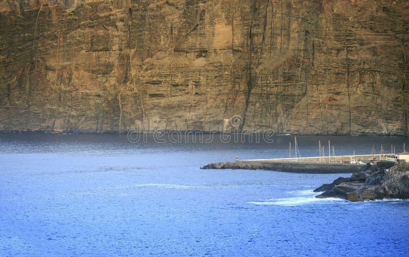 Морское побережье Тенерифе Канарские острова tenerife Gigantes стоковая фотография rf