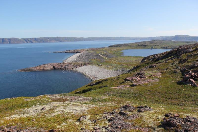 Морское побережье Barents стоковое изображение