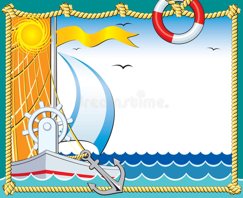 морское photoframe иллюстрация штока
