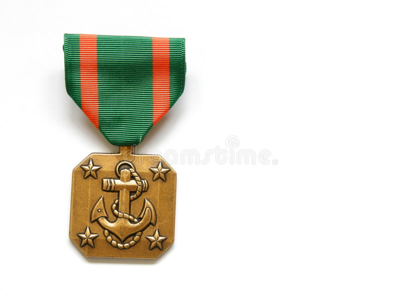 морской военно-морской флот медали стоковое изображение
