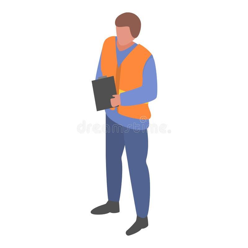 Морской гаван значок человека наблюдателя, равновеликий стиль бесплатная иллюстрация
