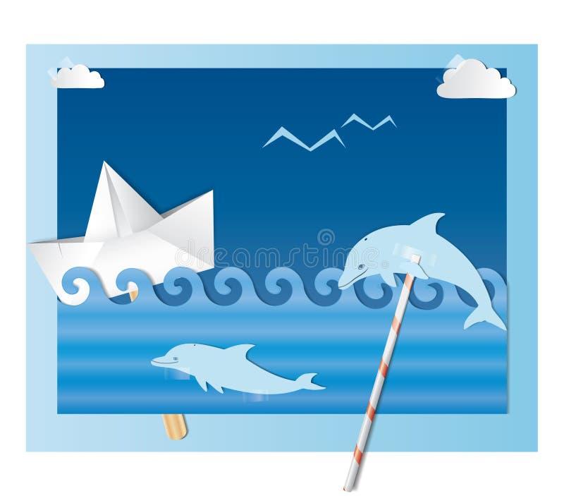 морской коллаж бесплатная иллюстрация