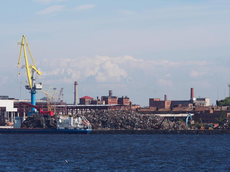 Морской кран, металл погани стоковая фотография rf