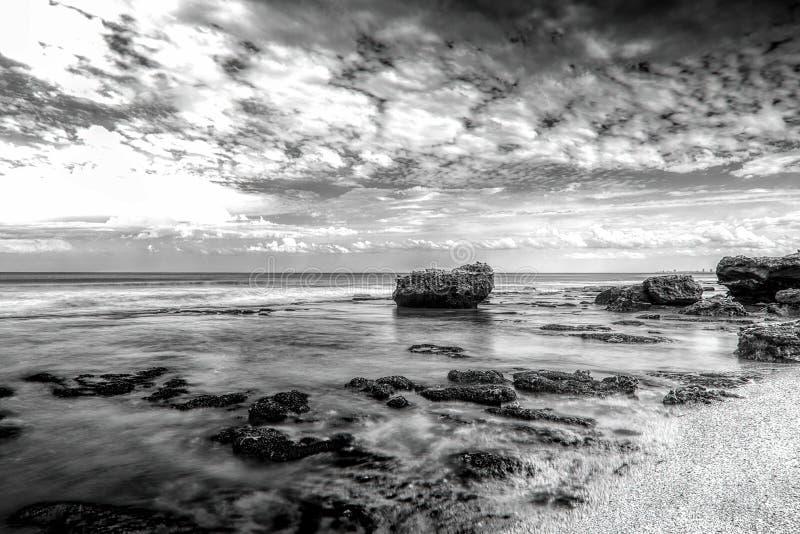 Морской ландшафт Mar del Plata, Аргентина стоковые изображения rf