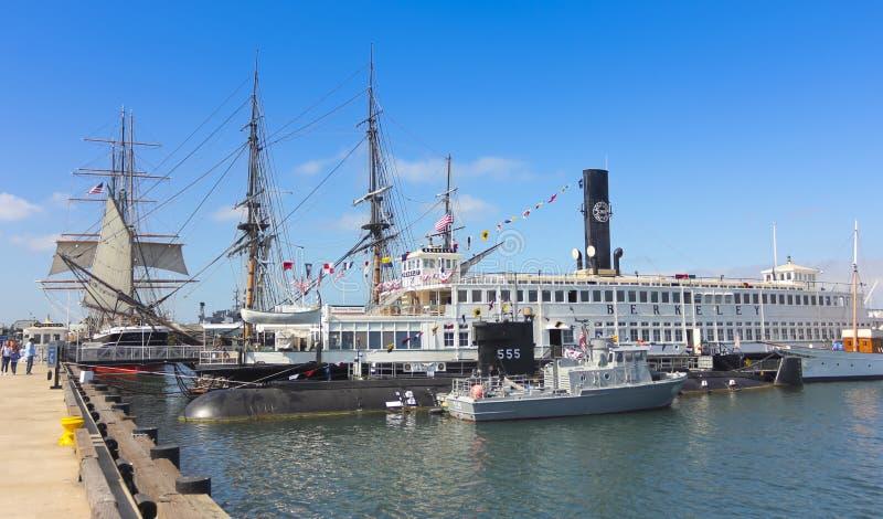 Морской музей съемки Сан-Диего стоковое изображение
