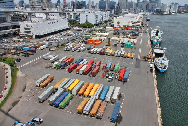 Морской порт токио стоковые фотографии rf