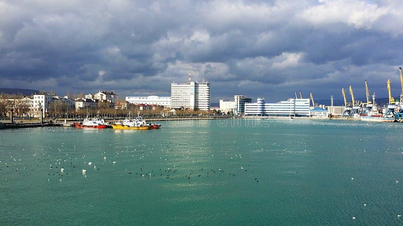Морской порт Novorossiysk Россия Лето стоковые изображения