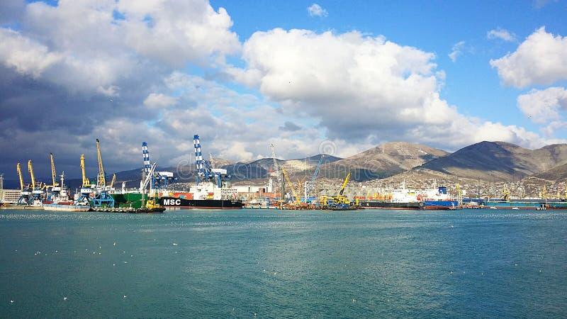 Морской порт Novorossiysk Россия Sammer стоковое изображение