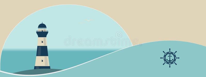 Морской плакат иллюстрация вектора