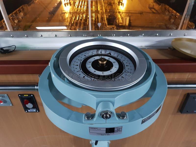 Морской репитер компаса Никогда не выпадайте из ускорения! стоковые фотографии rf