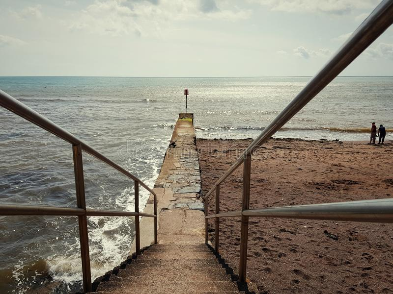 Морской фронт в Давлише, Великобритания стоковые фото
