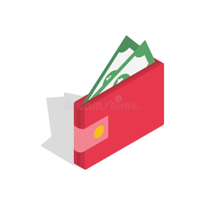 Морщите с значком денег, равновеликим стилем 3d иллюстрация штока