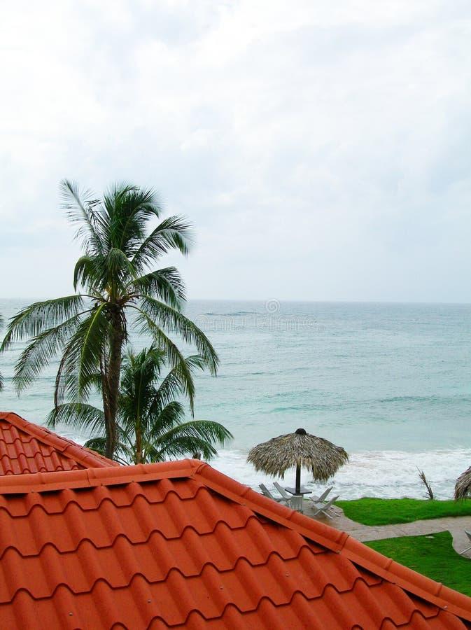 моря крыши nicara острова мозоли взгляд материального типичный стоковые фотографии rf