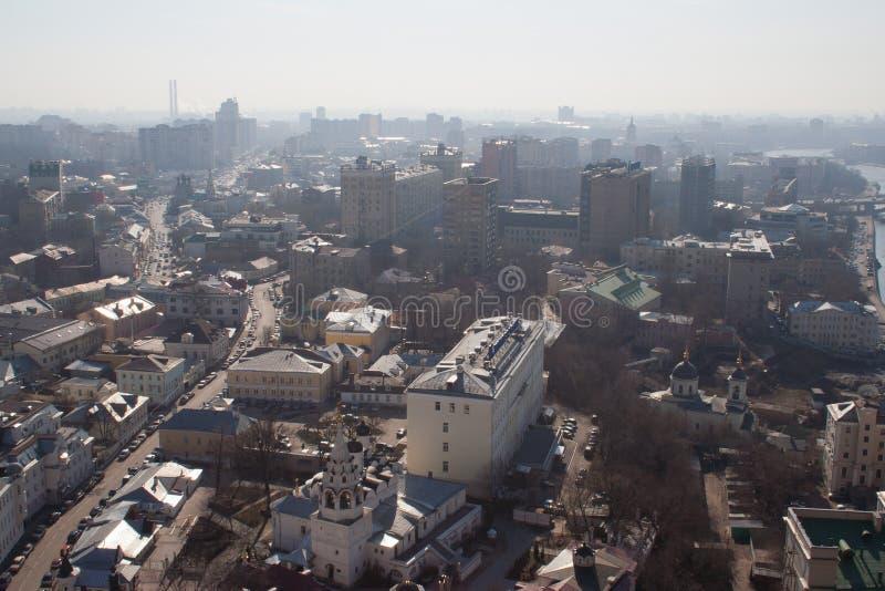 Москва в утре стоковое изображение rf