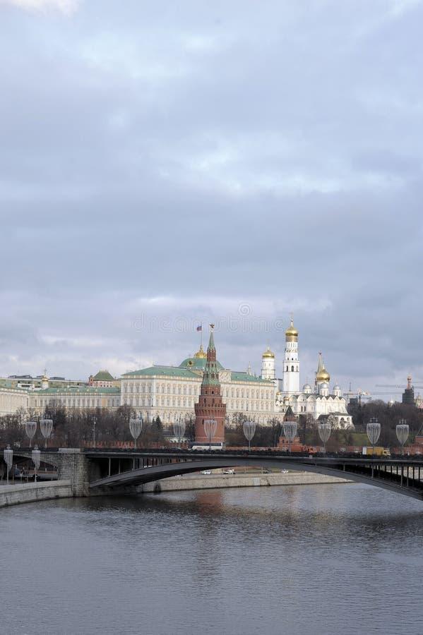 Москва Кремль, большой каменный мост, Москва, Россия стоковые фото
