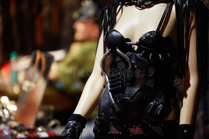 Манекен в первоначально костюме на конвенции 2012 татуировки v Москвы международной стоковое фото