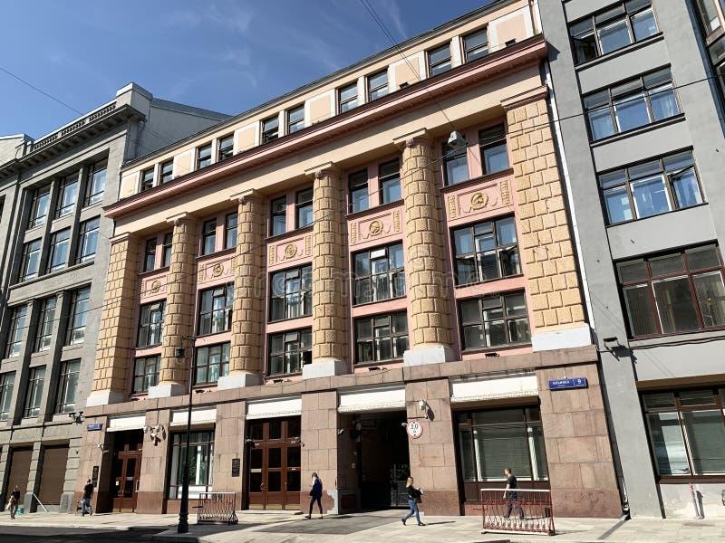 Москва, Россия, 29 августа 2019 года Бывший коммерческий банк 'Азов-дон' Здание было построено архитектором Адом в 1911-1912 года стоковое фото