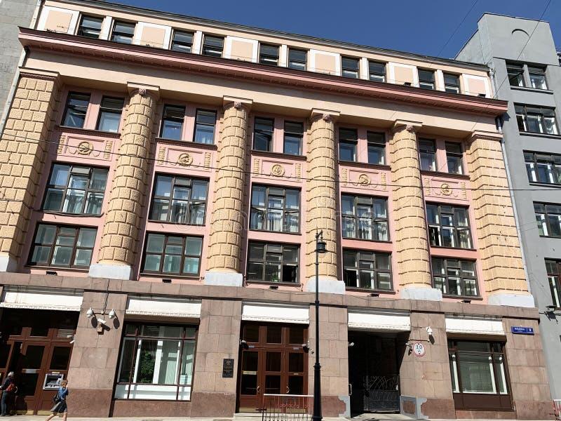Москва, Россия, 29 августа 2019 года Бывший коммерческий банк 'Азов-дон' Здание было построено архитектором Адом в 1911-1912 года стоковое изображение rf