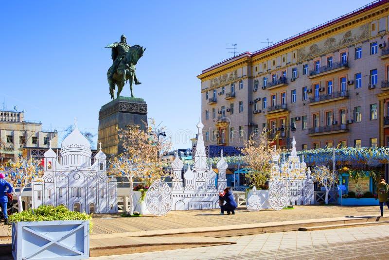 Москва, Россия, весна Пасха стоковое изображение