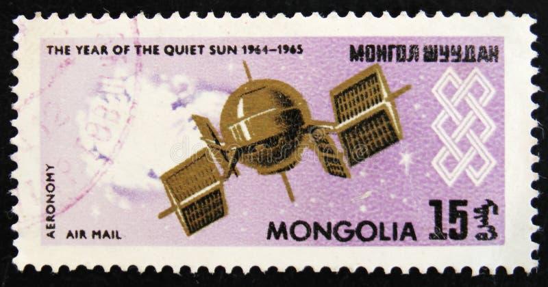 МОСКВА, РОССИЯ - 2-ОЕ АПРЕЛЯ 2017: Штемпель столба напечатанный в Монголии стоковое фото