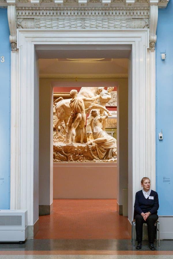 Москва, Россия - 21-ое ноября 2018: Музей Pushkin изящных искусств самый большой музей европейского искусства в Москве, России стоковое фото