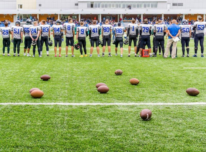 МОСКВА, РОССИЯ - 6-ОЕ СЕНТЯБРЯ 2015: Стадион рэгби школы спорт олимпийского запаса? 111 стоковые фотографии rf
