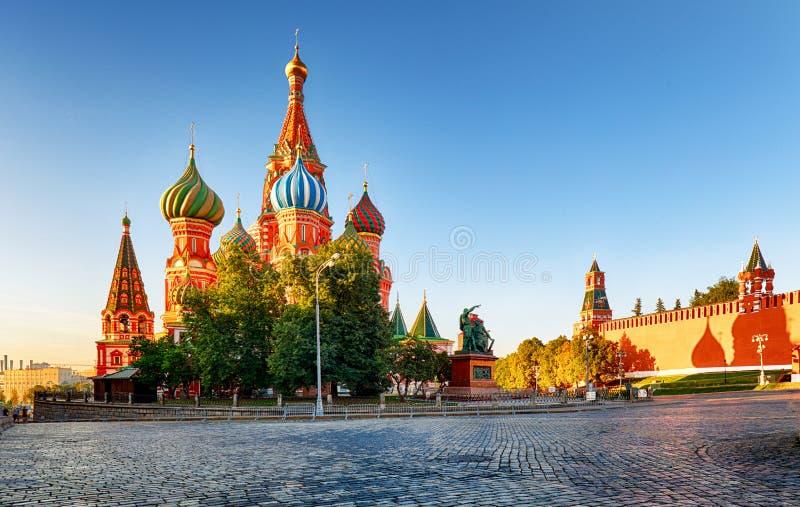 Москва, собор ` s базилика St в красной площади, России стоковые изображения rf