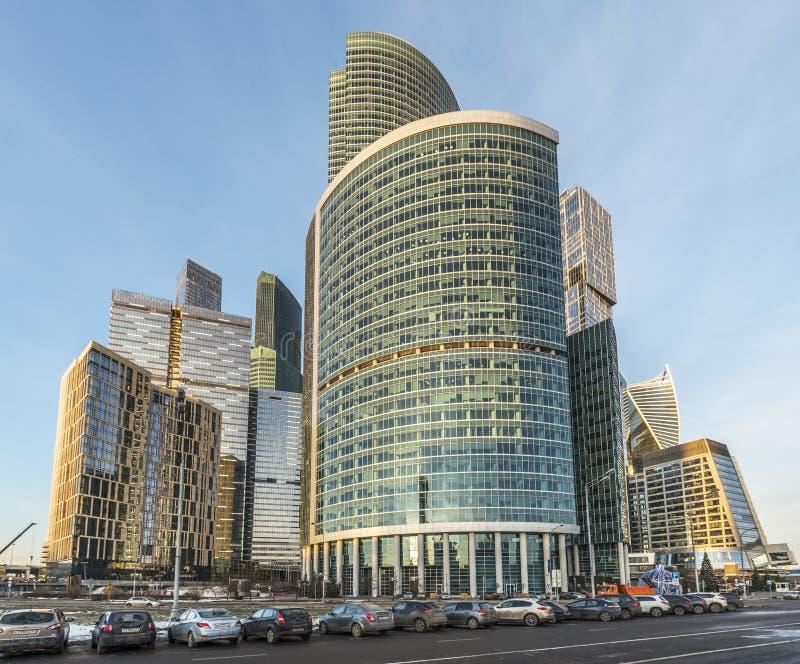 Москв-город делового центра башни Naberezhnaya стоковое фото