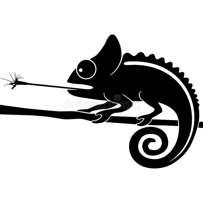 Москит задвижки хамелеона иллюстрация штока