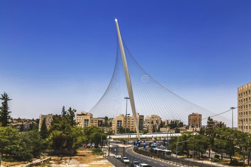 ` Моста строки ` в Иерусалиме, Израиле стоковая фотография