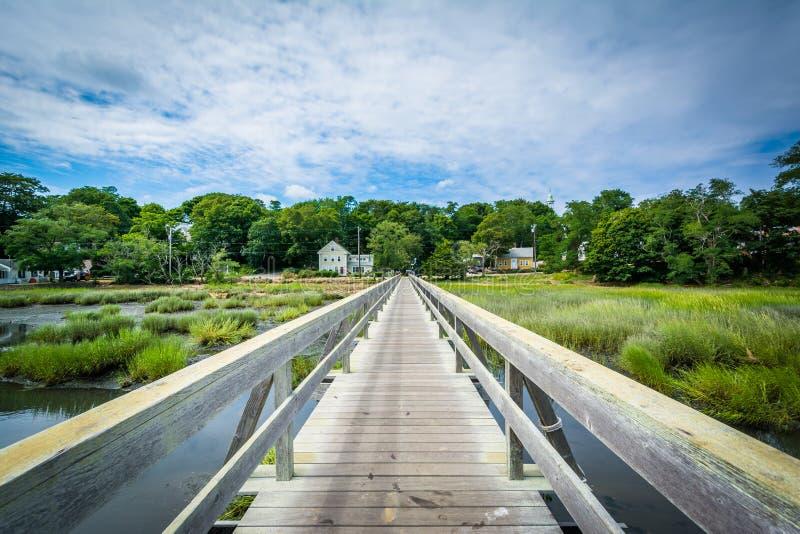 Моста дядюшки Тим, в Wellfleet, треска накидки, Массачусетс стоковые фотографии rf