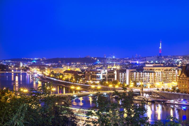 Мосты Праги стоковое изображение rf