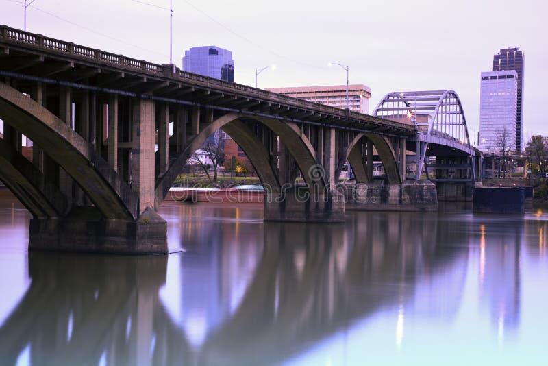 мост Арканзаса меньший утес стоковая фотография