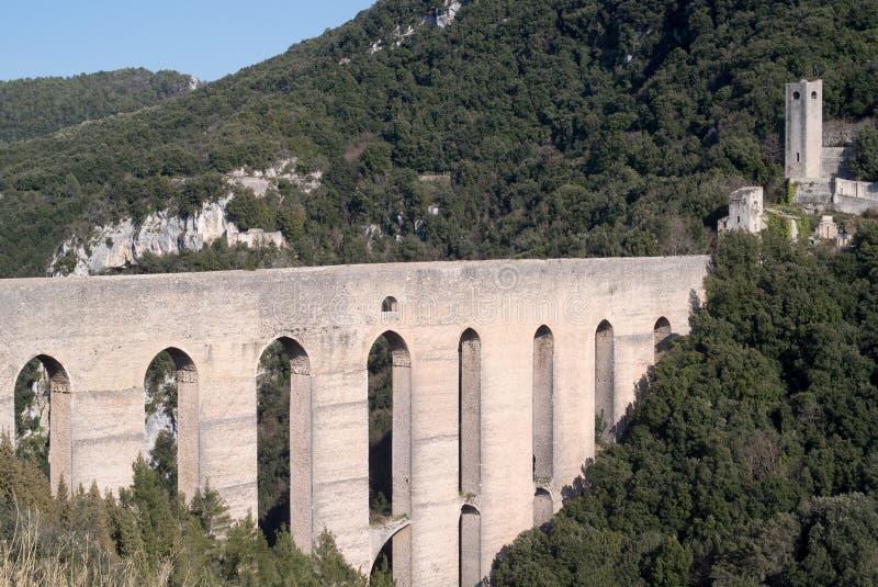 Мост башен Умбрия, Spoleto, Италия стоковая фотография