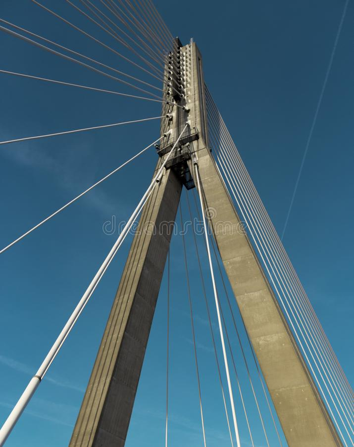 Мост Большинств Варшава Варшава стоковые фото