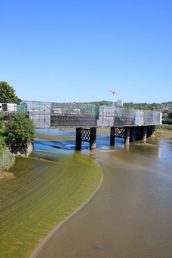 Мост борзой ремонтов, река Lune, Ланкастер стоковые фотографии rf