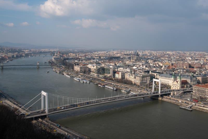 Мост Будапешт Венгрия Elisabeth стоковые изображения rf