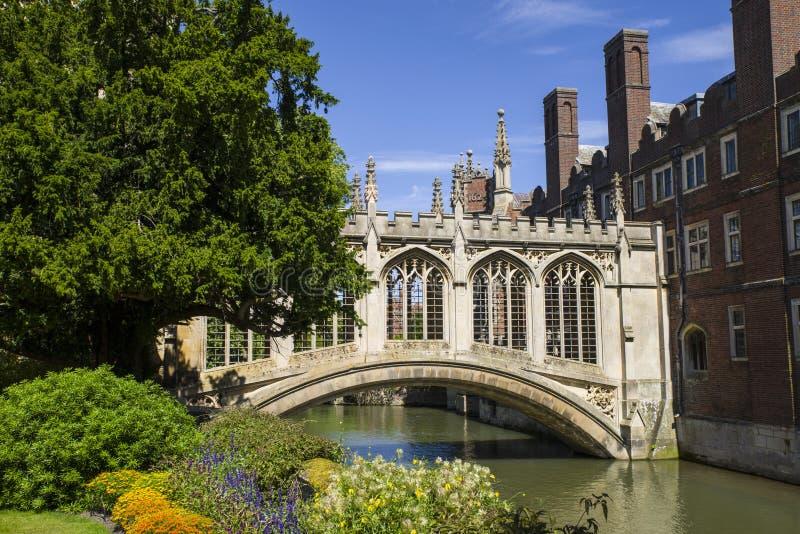 Мост вздохов в Кембридже стоковые изображения rf
