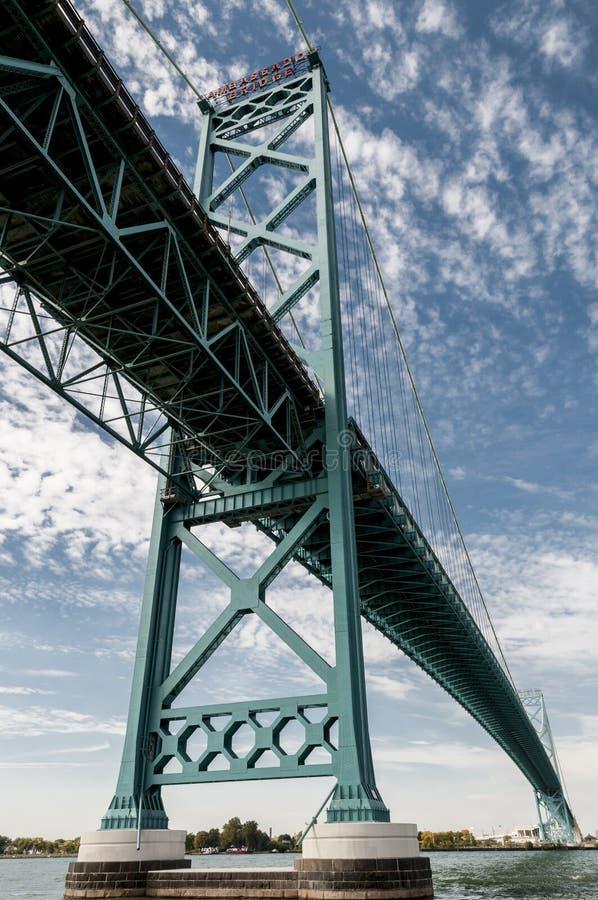 Мост Виндзор Онтарио посола стоковое фото rf